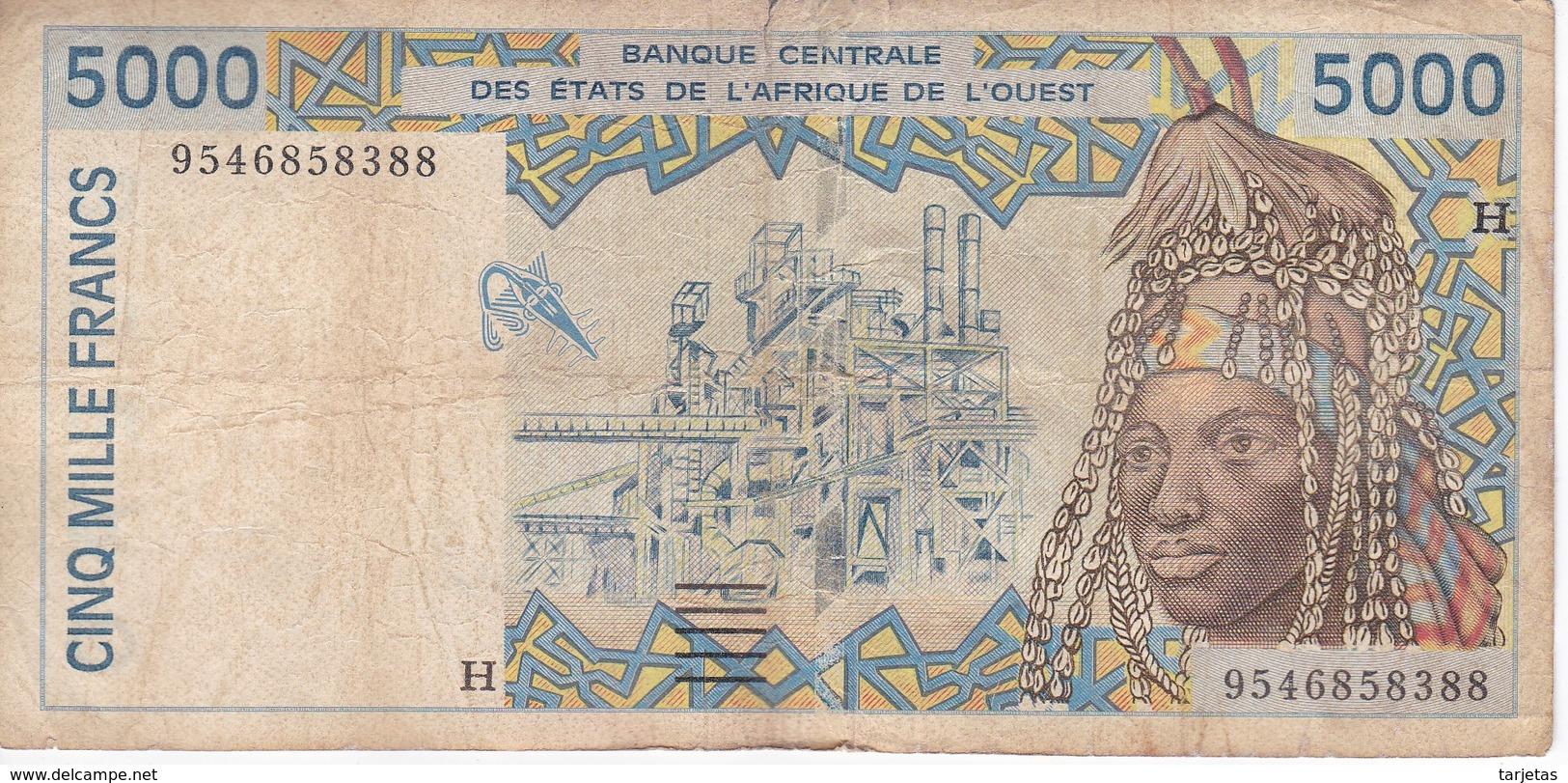 BILLETE DE NIGER DE 5000 FRANCS DEL AÑO 1995  (BANKNOTE) - Niger