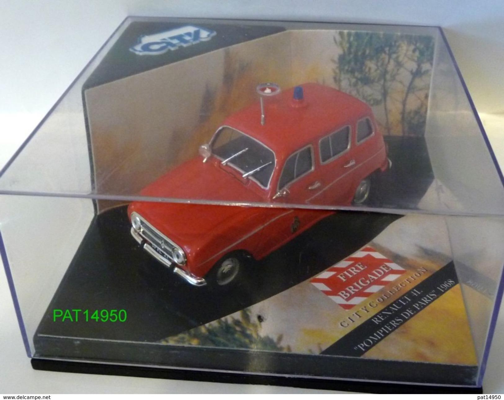 RENAULT 4 R4 4L POMPIERS De PARIS 1968 Marque CITY - Vitesse