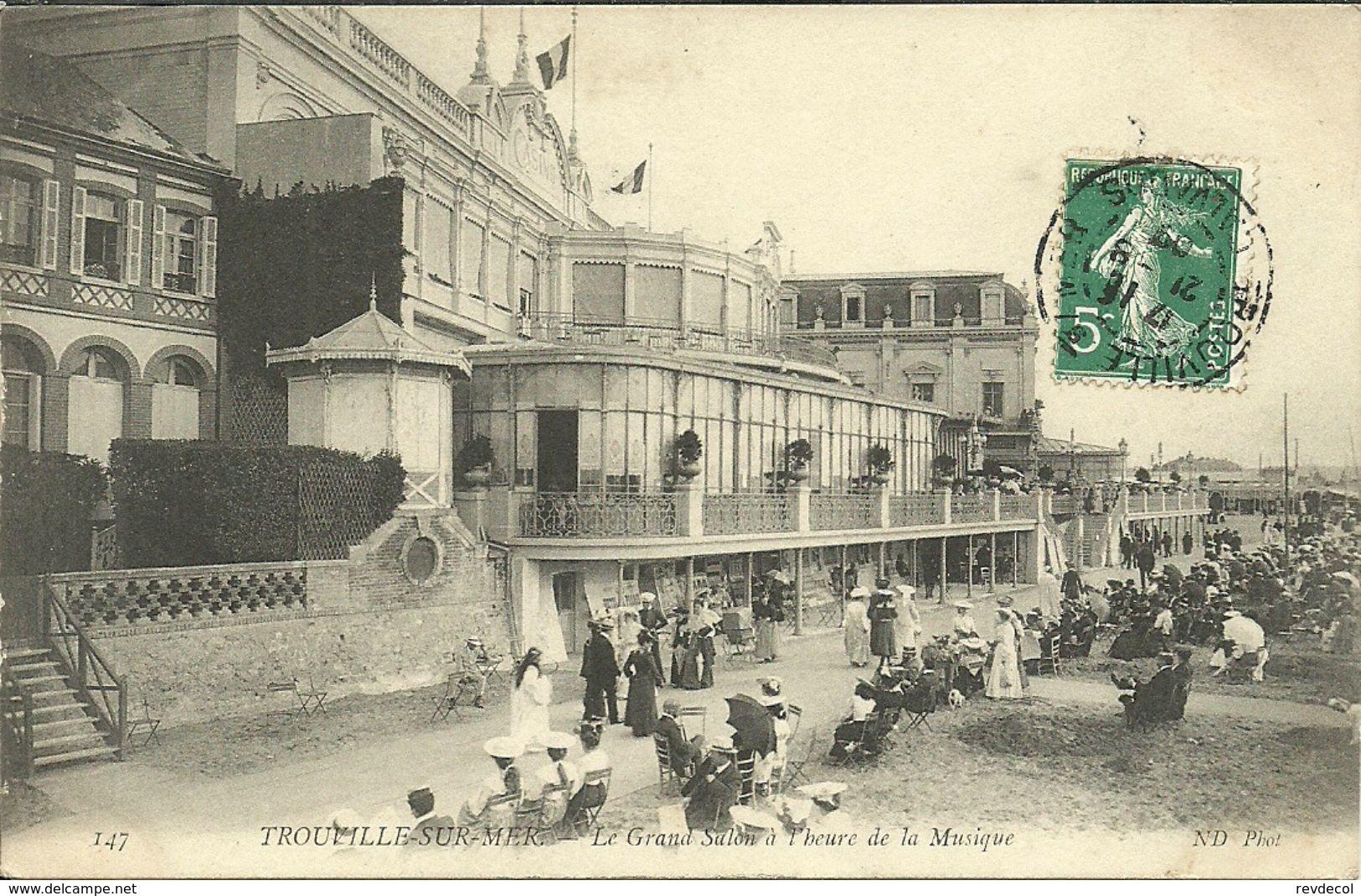 TROUVILLE -- Le Grand Salon à L'heure De La Musique                              -- ND 147 - Trouville