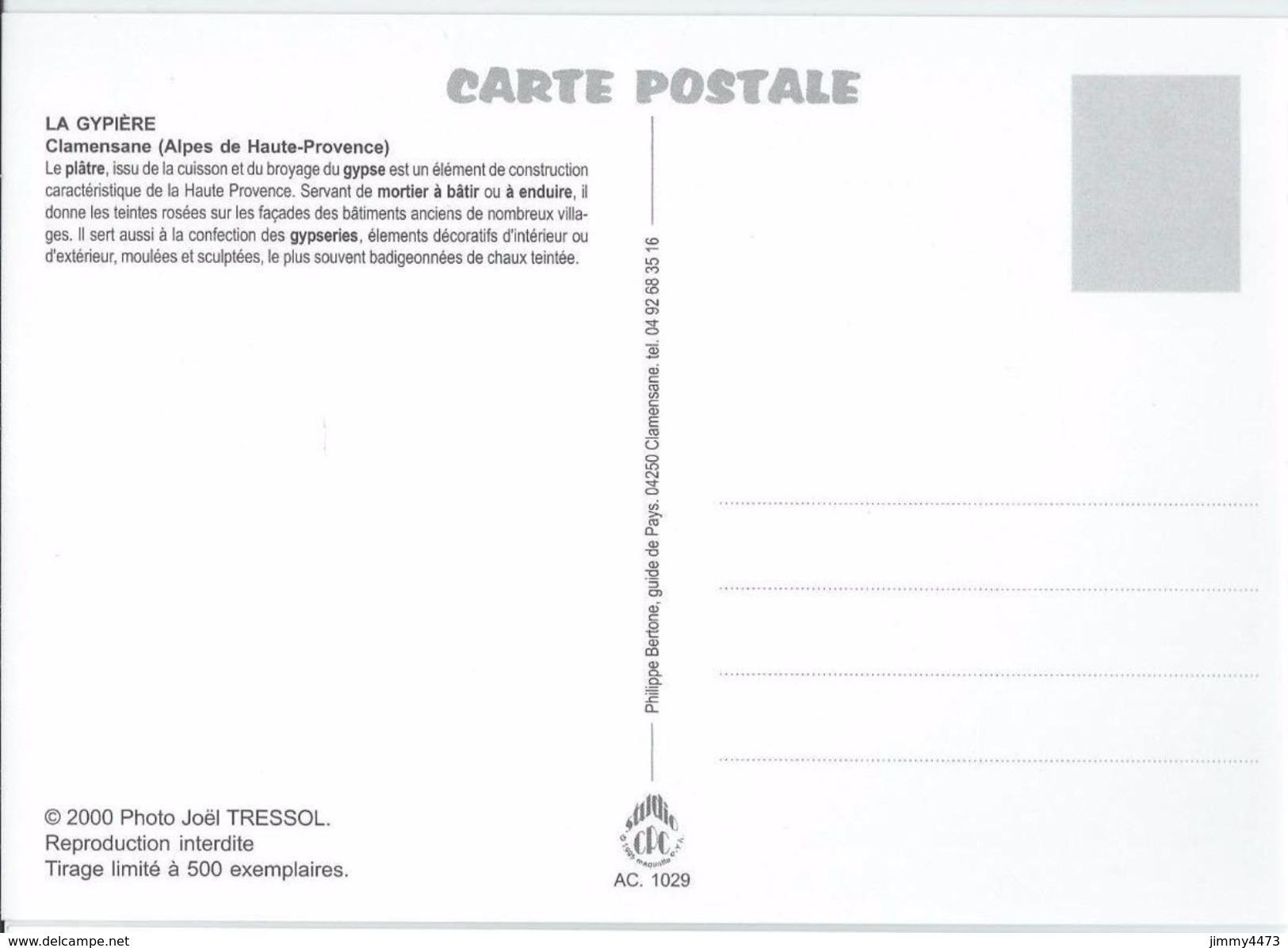 CPM - Le Plâtre Four, Broyage Et Ensachage - La Gypière - CLAMENSANE 04 Alpes De Haute Provence - Edit. Philippe Bertone - Artisanat