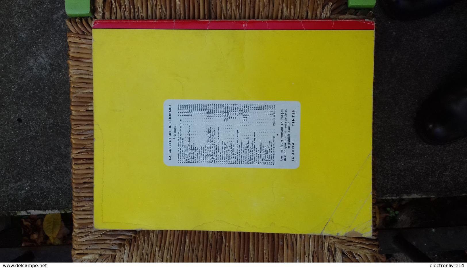 Tibet Chick Bill Le Tresor Du Gros Magot Brochee Lombard   Eo  Cote 50 Euros Mauvais Etat - Chick Bill