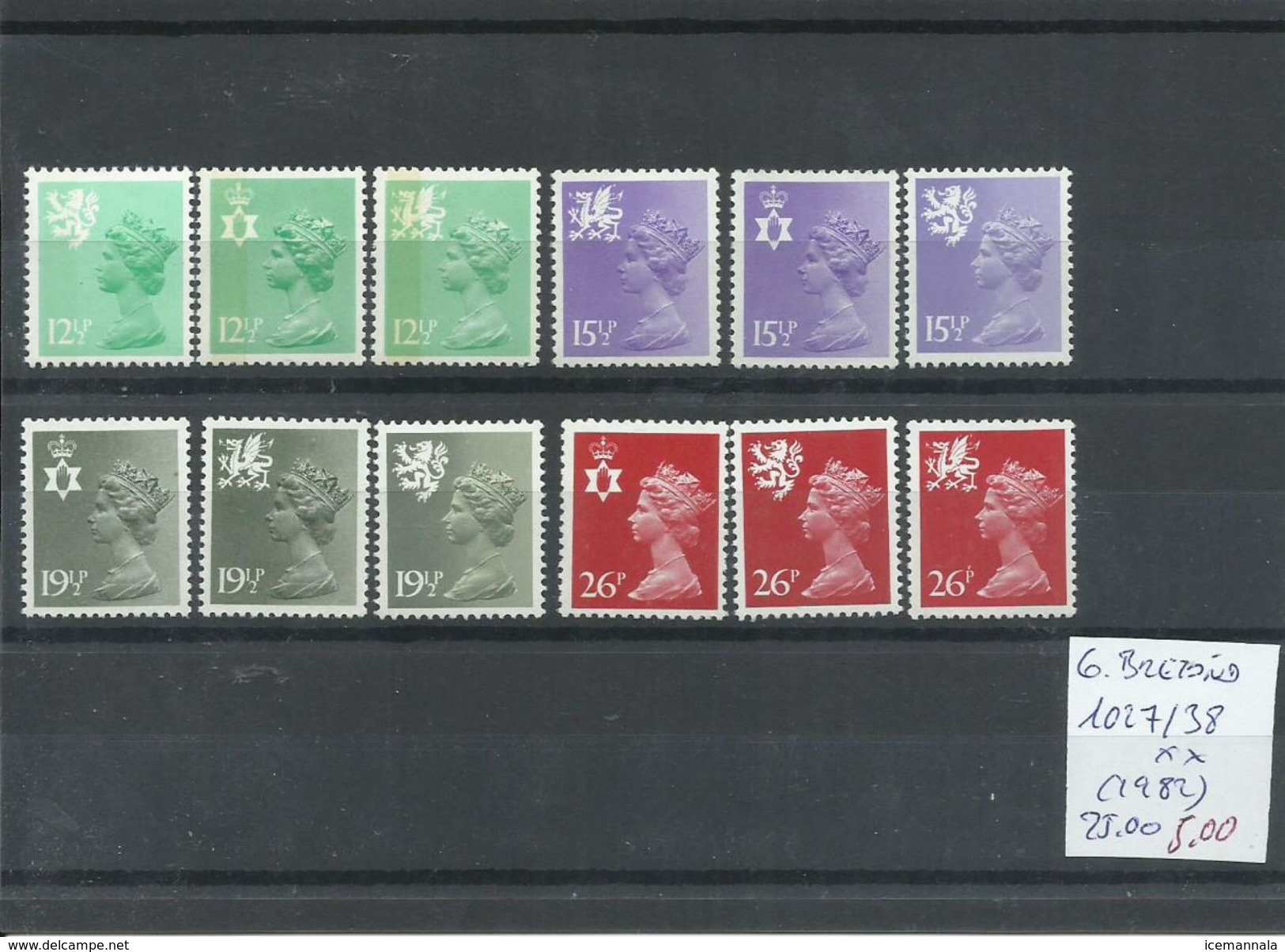 GRAN BRETAÑA YVERT  1027/38  MNH  ** - 1952-.... (Elizabeth II)