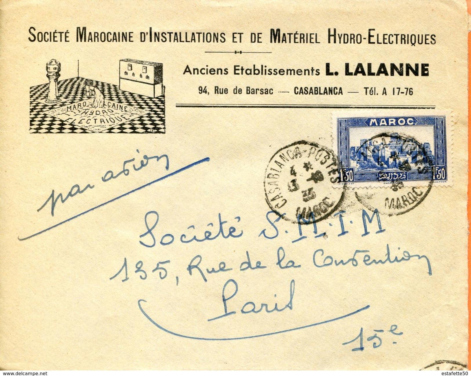 "Maroc,Morocco,Marruecos; 1933 "" Belle Enveloppe  "" - Marokko (1891-1956)"