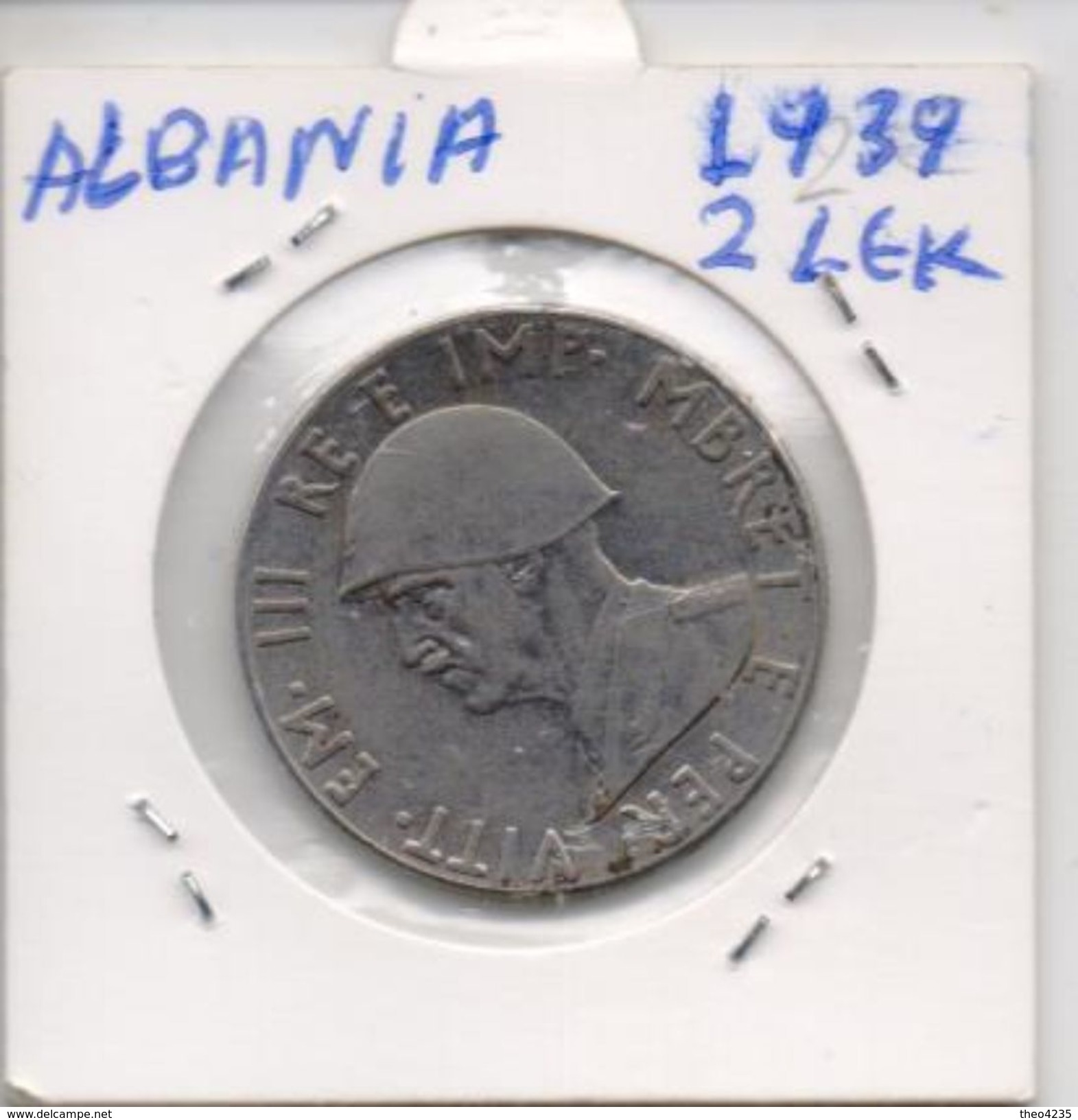 ALBANIA COIN 2 LEK -1939-USED AS SCAN(Kbx) - Albania