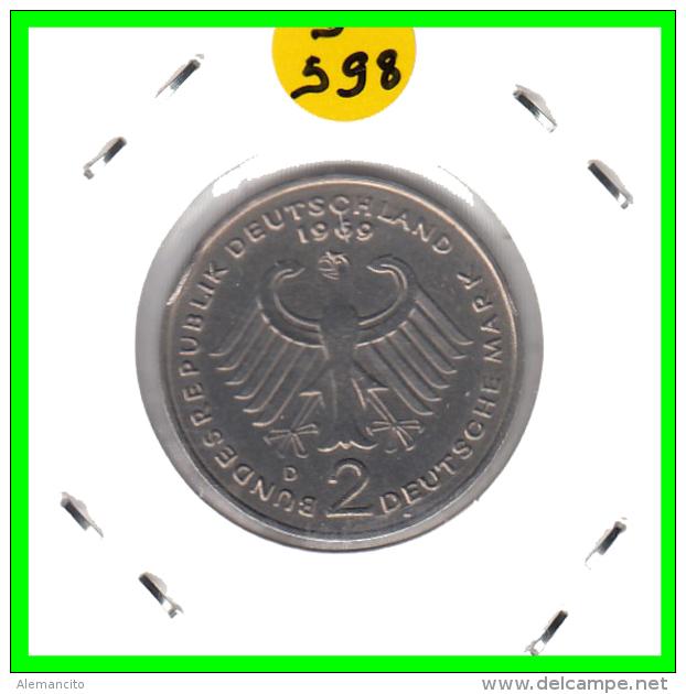 ALEMANIA  - GERMANY -  MONEDA DE 2.00 DM.  AÑO 1969-D  Konrad Adenauer - [ 7] 1949-… : RFA - Rep. Fed. Alemana