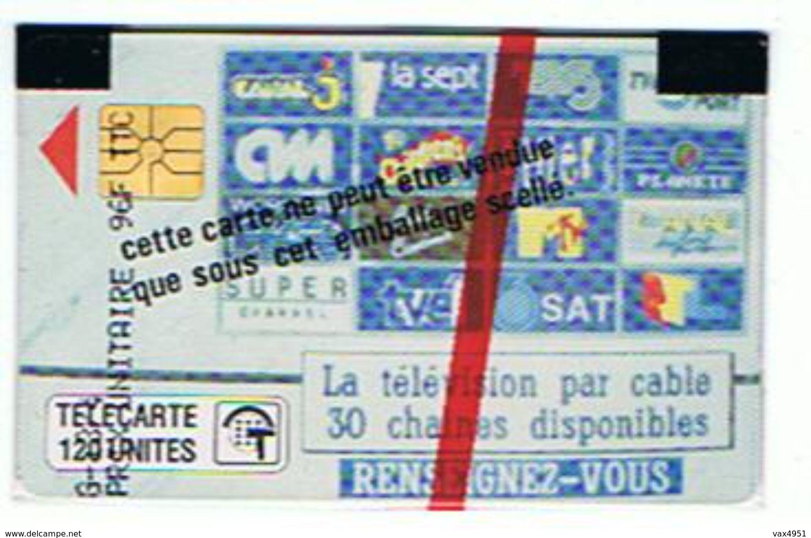CARTE NEUVE SOUS BLISTER STE MONEGASQUE DES EAUX   LA TELEVISION PAR CABLE 120 UNITES      ***  RARE   SAISIR *** - Monaco