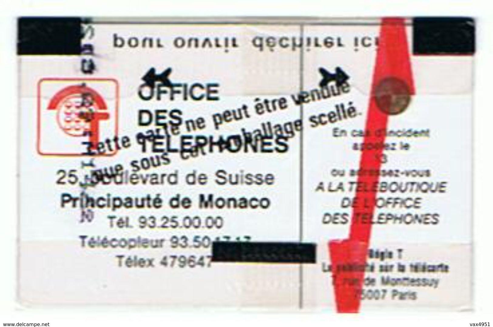 CARTE NEUVE SOUS BLISTER  MONACO OFFICE DES TELEPHONES 120 UNITES      ***  RARE   SAISIR *** - Monaco