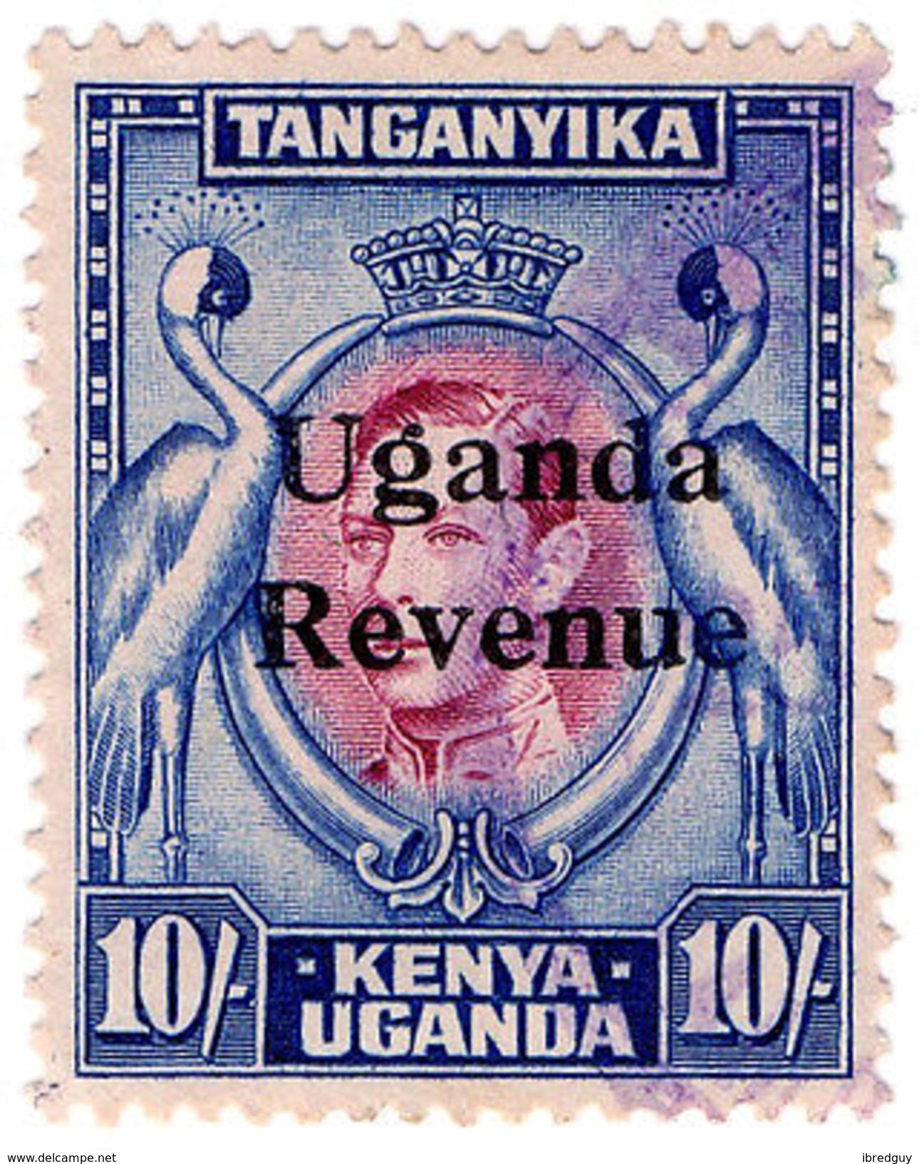 (I.B) KUT Revenue : Uganda Duty 10/- - Kenya, Uganda & Tanganyika