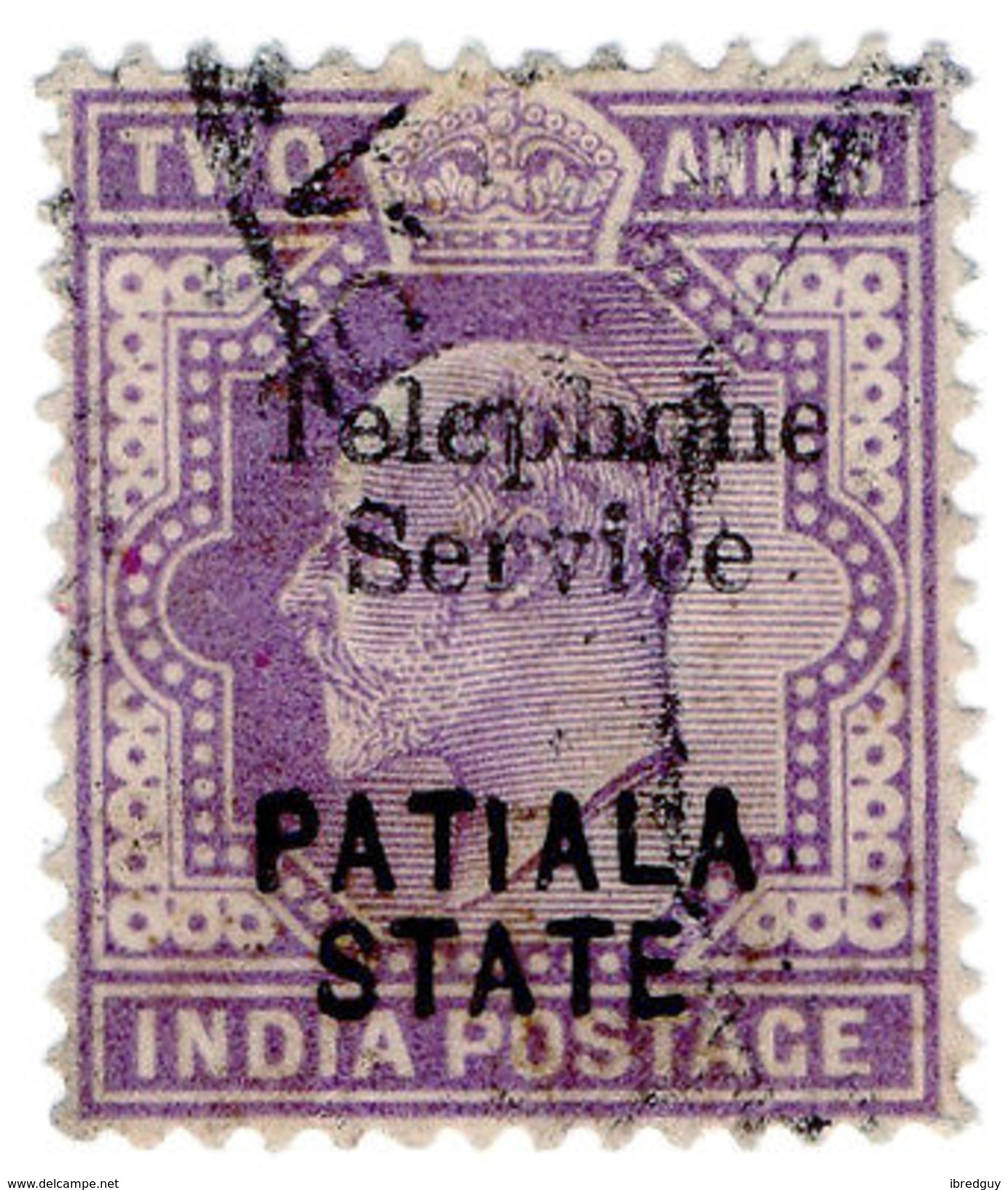 (I.B) India Telegraphs : Patiala State Telephone Service 2a - India (...-1947)