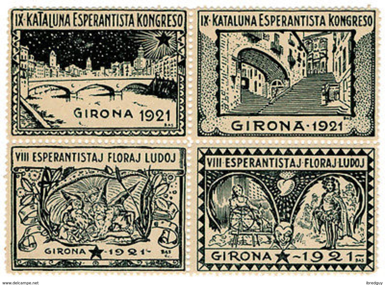 (I.B) Cinderella (Esperanto) Collection : Congress Label (Girona 1921) - Poland