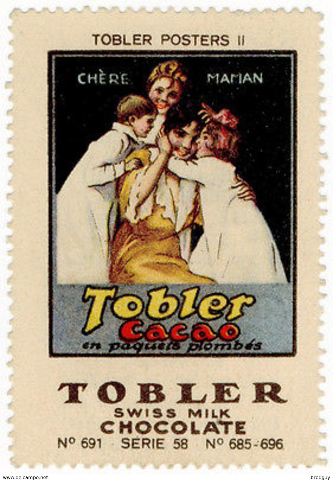 (I.B) Cinderella Collection : Tobler Chocolate Series 58 (Chere Maman) - Switzerland