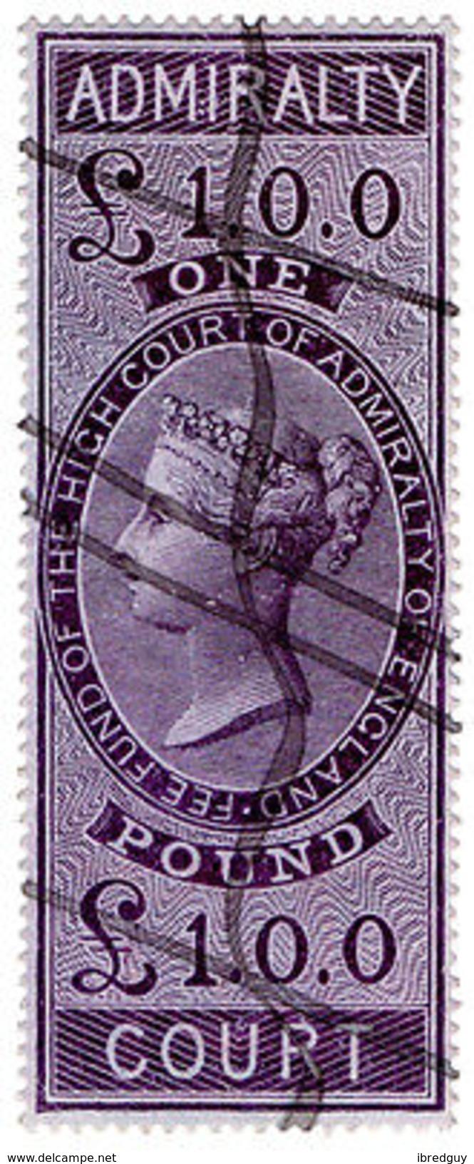 (I.B) QV Revenue : Admiralty Court £1 (1855) - 1840-1901 (Victoria)