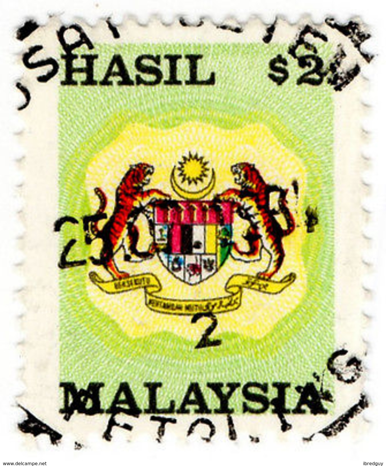 (I.B) Malaysia Revenue : General Duty $2 (small Format) - Great Britain (former Colonies & Protectorates)
