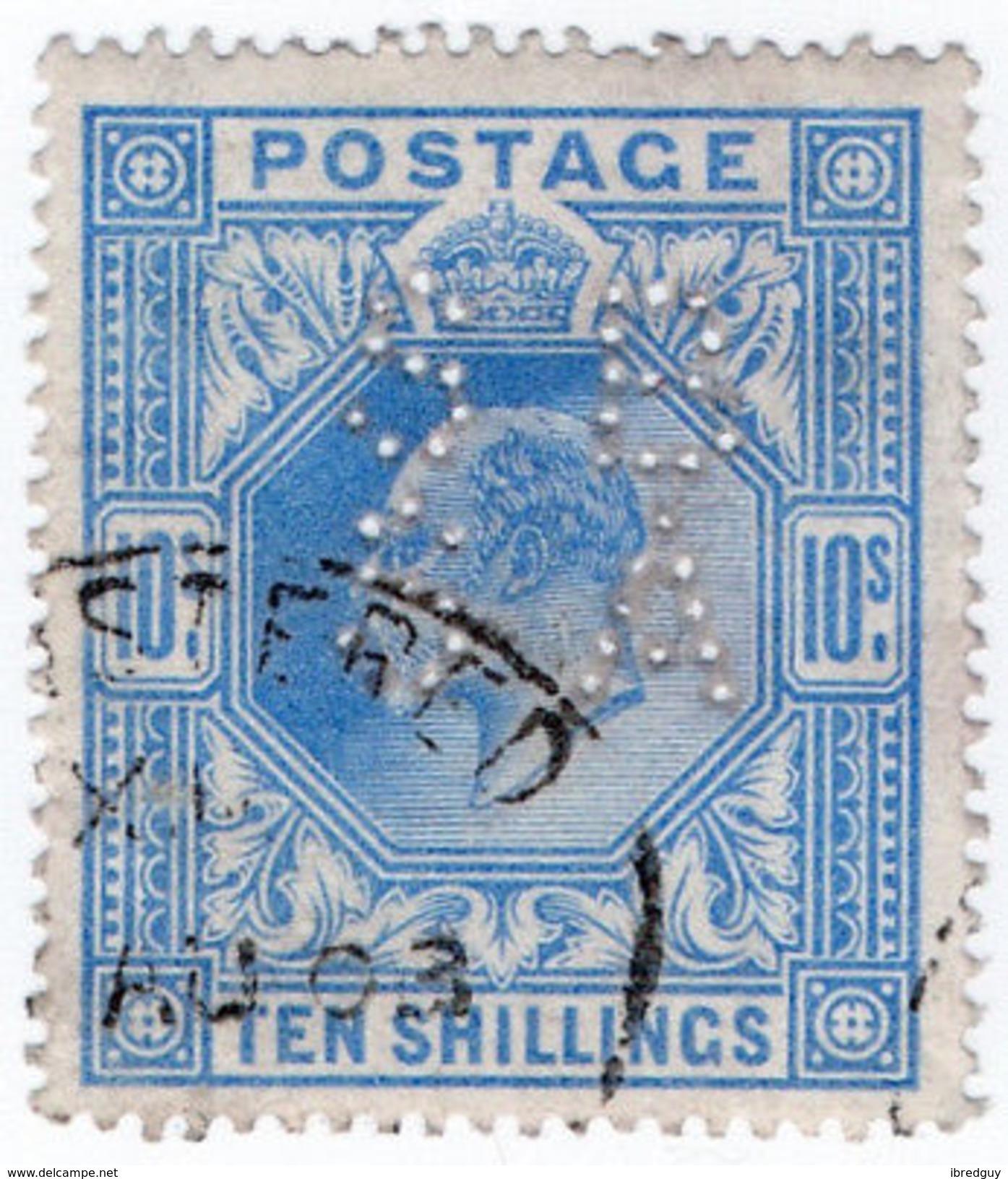 (I.B) Edward VII Commercial Perfin : SG 265 (SBSA) - 1902-1951 (Kings)
