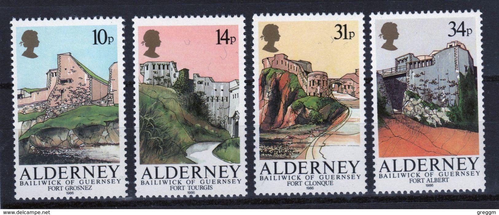 Alderney Set Of Stamps To Celebrate Alderney Forts. - Alderney