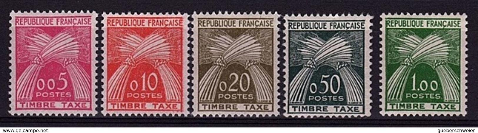 FR-TAXE1 - FRANCE TAXES N° 90/94 Neufs** 1er Choix - Postage Due