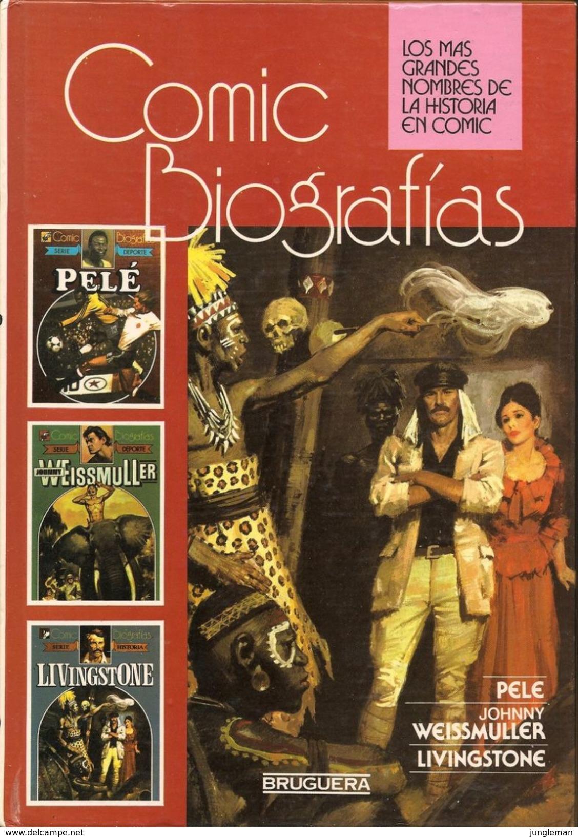 Comic Biografias  - Editions Bruguera - La Biografía De Pelé, Johnny Weissmuller Et Livingstone - En Espagnol - Neuf. - Livres, BD, Revues