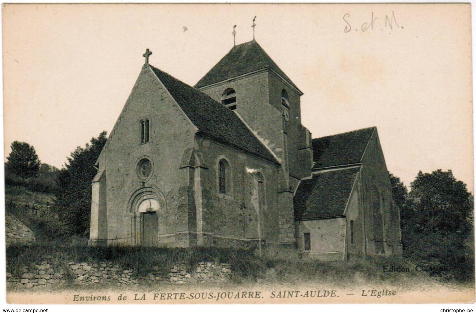 CPA Saint Aulde, Environs De La Ferte Sous Jouarre, L'eglise (pk41052) - Francia