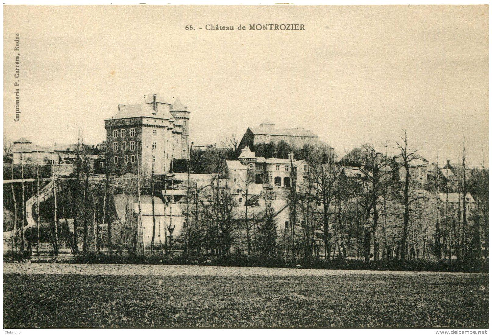 CPA - MONTROZIER - LE CHATEAU (IMPECCABLE) - Francia