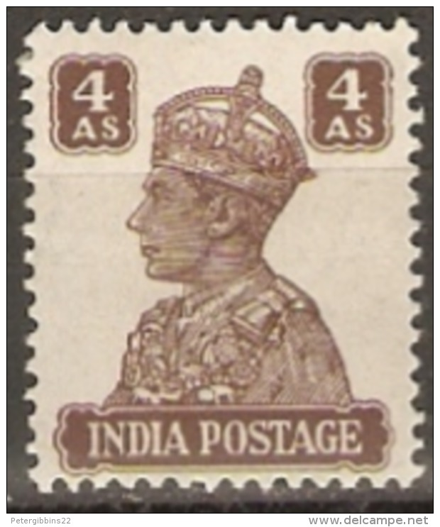 India  1940  SG 273 4a  Lightly Mounted  Mint - India (...-1947)