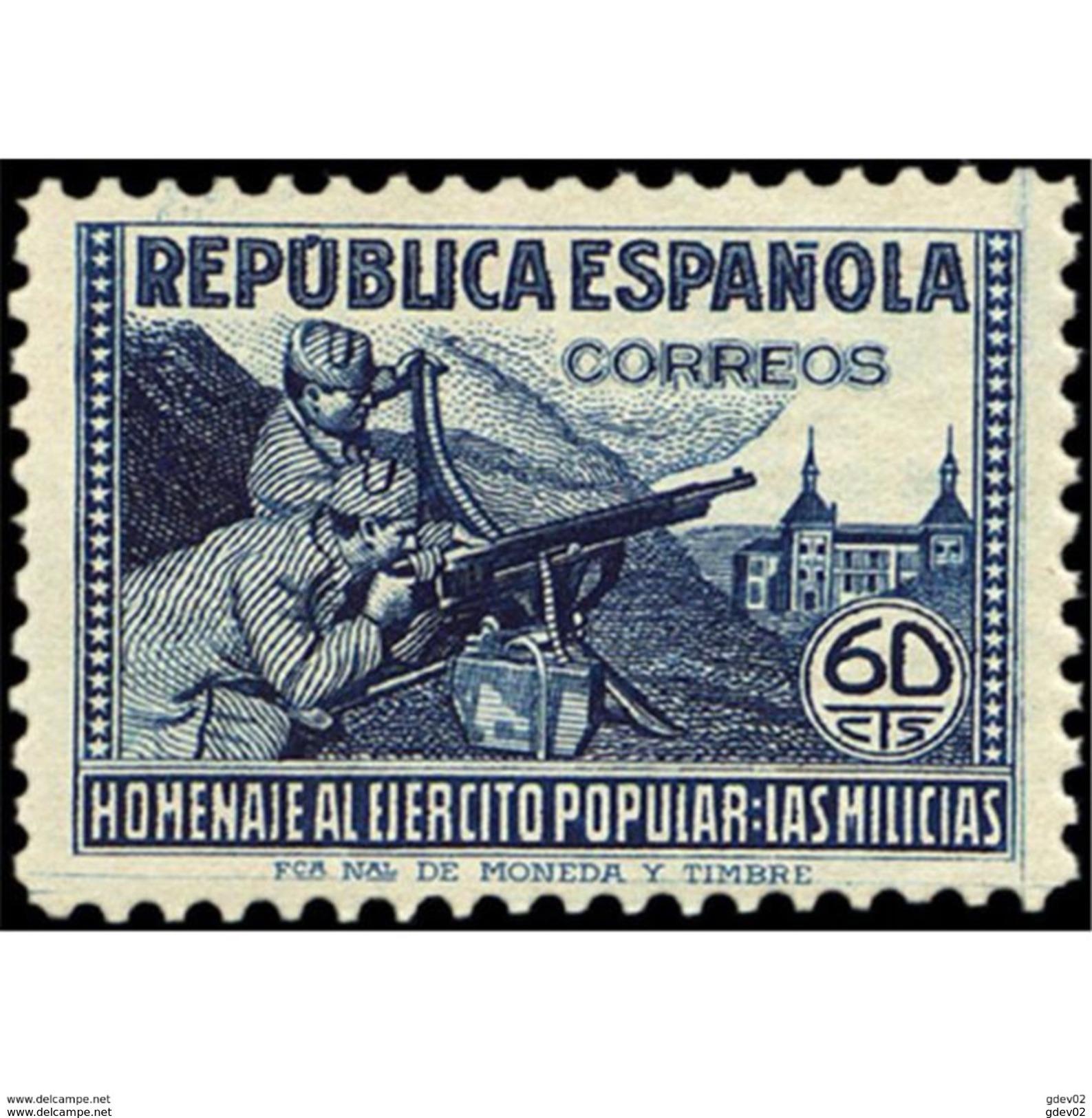 ES796STV-LTV***796STAN.Spain.Esgane .Militar.HOMENAJE AL EJERCITO POPULAR.1938(Ed 796**) - 1931-Hoy: 2ª República - ... Juan Carlos I