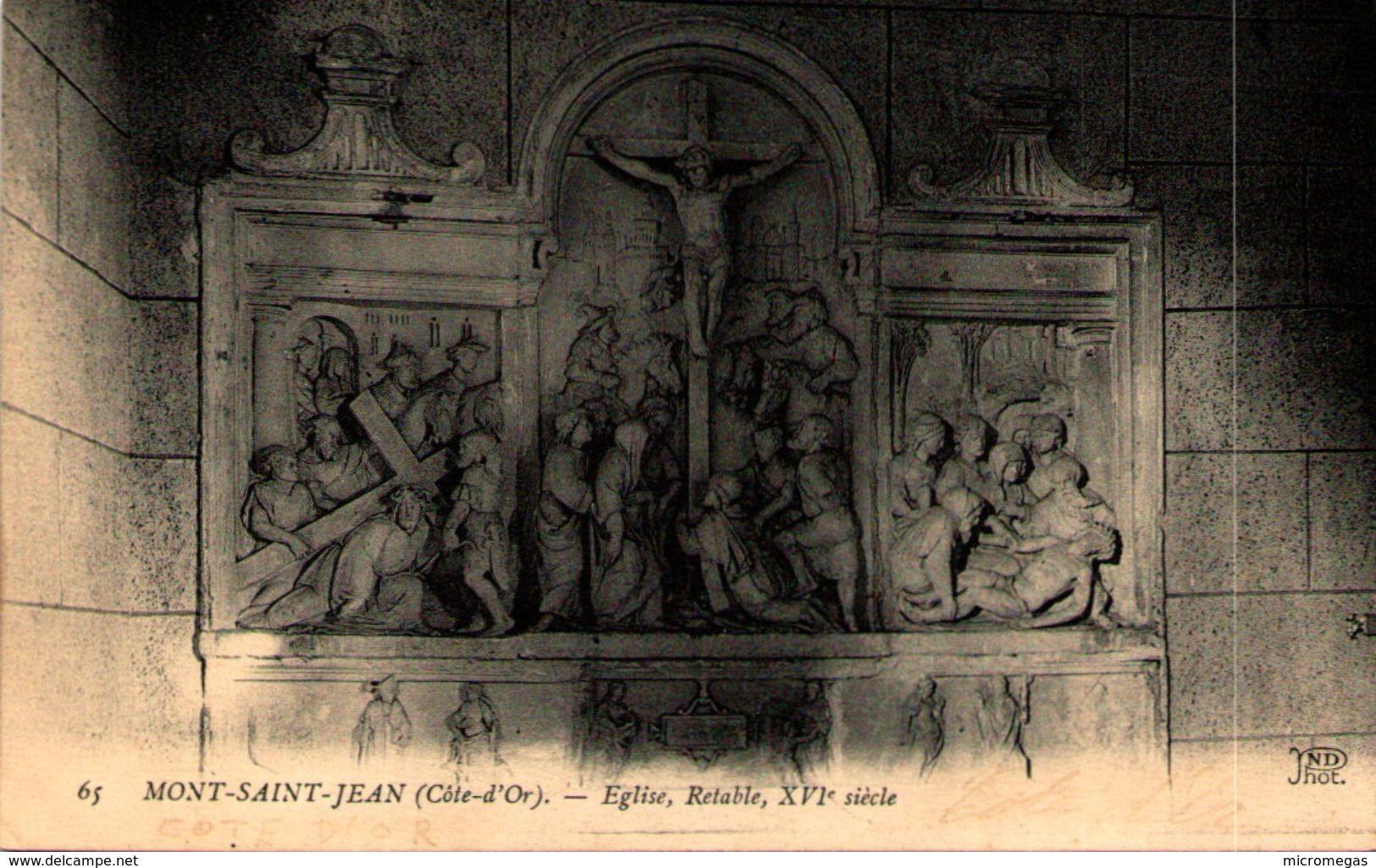 21 - MONT-SAINT-JEAN - Eglise, Rétable - Autres Communes