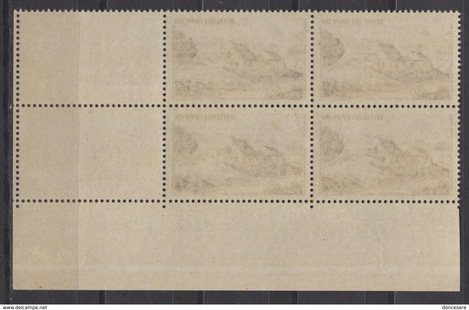 FRANCE 1949 - BLOC DE 4 TP  Y.T. N° 843 - COIN DE FEUILLE NEUFS** /Y176 - Unused Stamps