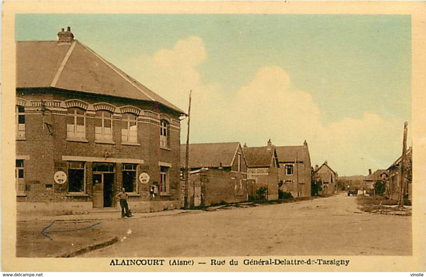 PIE 17-Tx-9402 :  ALAINCOURT  RUE DU GENERAL DE LATTRE DE TASSIGNY - Sonstige Gemeinden