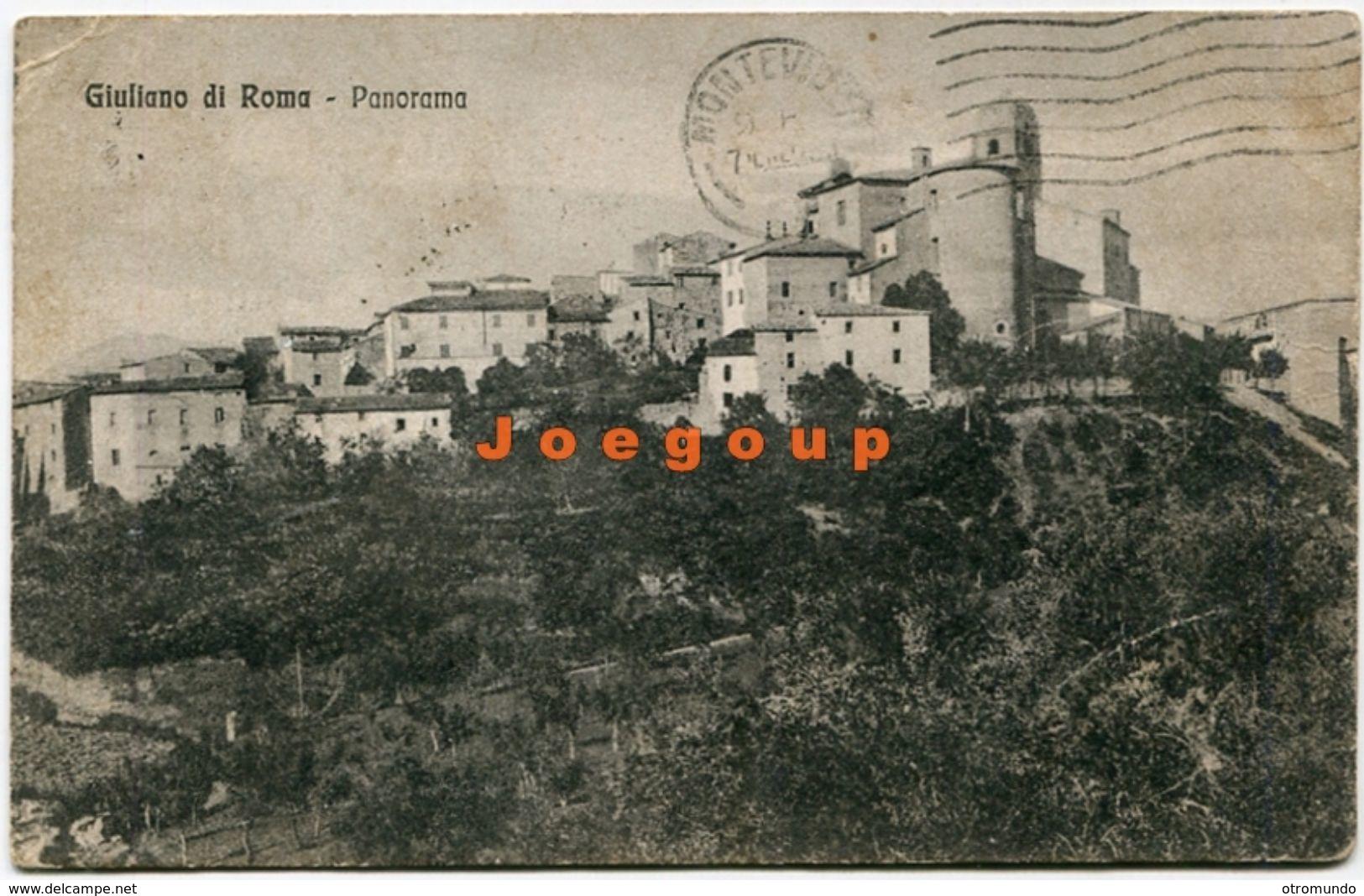 Postale Sperduti Panorama Giuliano Di Roma Lazio Italia 1924 - Otras Ciudades