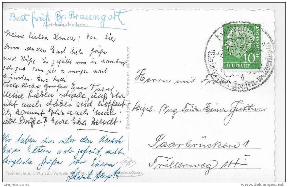 AK 0799  Mainburg ( Hallertau ) - Cekade Luftbild Um 1960 - Mainburg