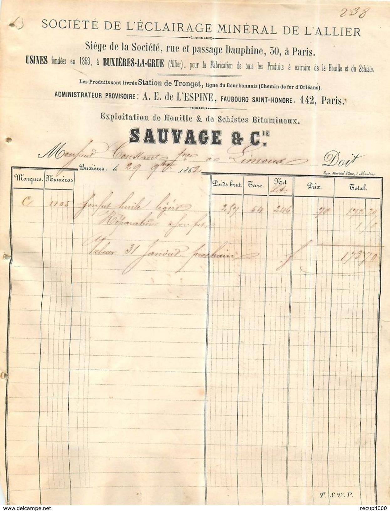 LETTRE 1862 Napo.20c Bleu N 14 Bruxière La Grue (mines)  Perlé à Limoux      2scans - 1849-1876: Période Classique