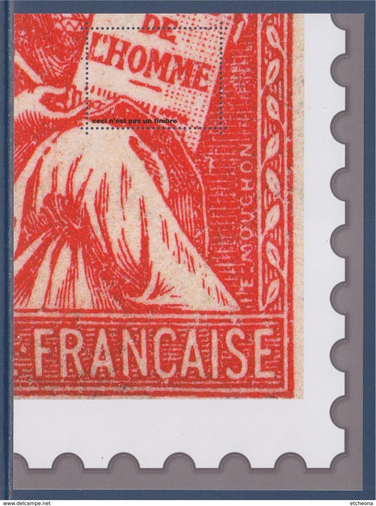 = Bloc Gommé Neuf Type Mouchon De Phil@poste Sans Valeur Faciale Soit 1/4 Du Timbre Représenté Bas Droit 112 - Blocs & Feuillets