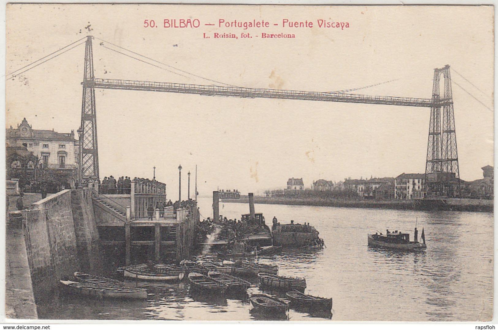 Bilbao Portugalete Puente Viscaya 1910 - Vizcaya (Bilbao)