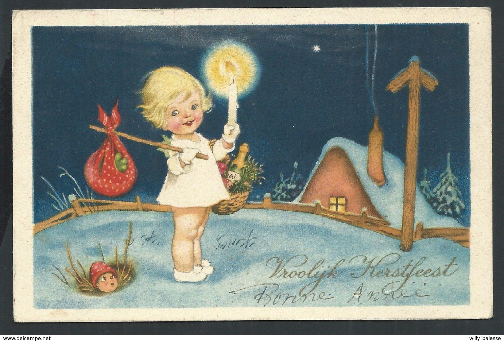 +++ CPA - Carte Fantaisie - Voeux - Noël - Christmas - Kerstfeest - Enfant   // - Noël