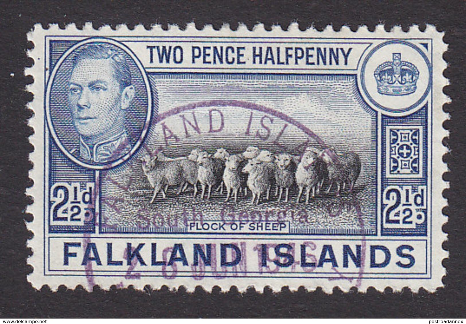 Falkland Islands, Scott #87, Used, George VI And Scenes Of Falkland Islands, Issued 1938 - Falkland Islands