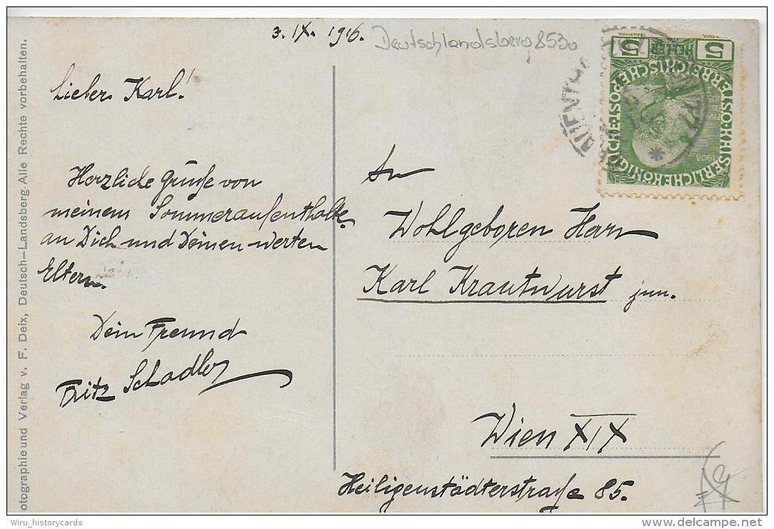 AK 0799  Deutschlandsberg - Verlag Deix Um 1916 - Deutschlandsberg