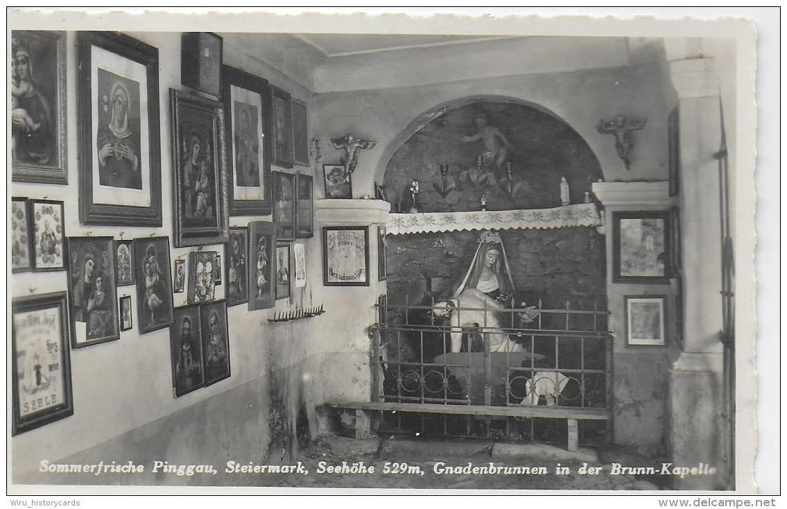 AK 0799  Pinggau - Gnadenbrunnen In Der Brunn-Kapelle / Verlag Mörtl Um 1937 - Friedberg