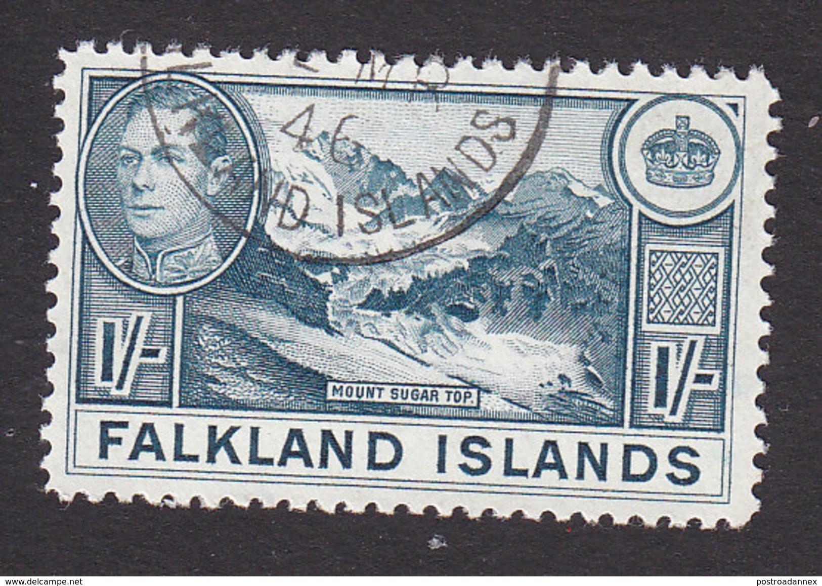 Falkland Islands, Scott #91, Used, George VI And Scenes Of Falkland Islands, Issued 1938 - Falkland Islands