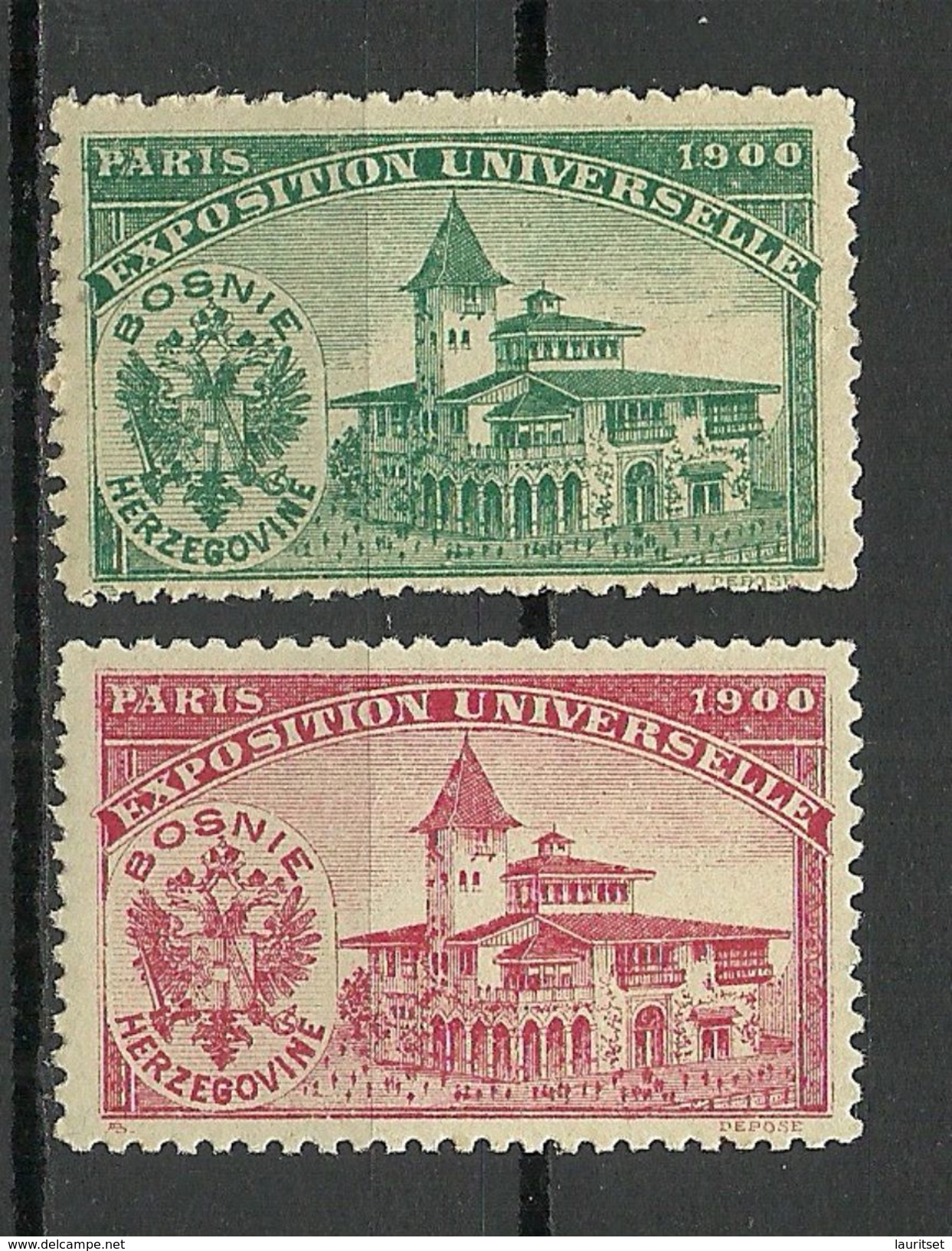 France 1900 EXPOSITION UNIVERSELLE Pavillion Bosnia Herzegovine MNH - 1900 – Paris (Frankreich)