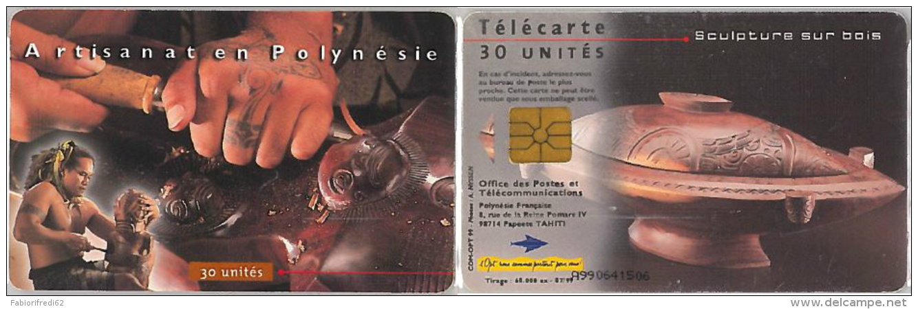 PHONE CARD POLINESIA FRANCESE (E6.7.6 - Palestina