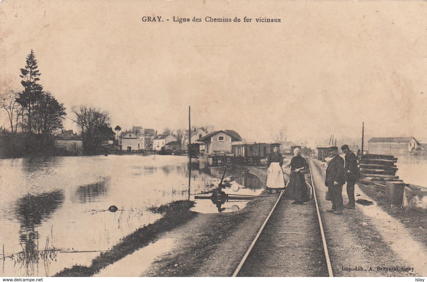 70 - GRAY - Ligne Des Chemins Vicinaux - Gray