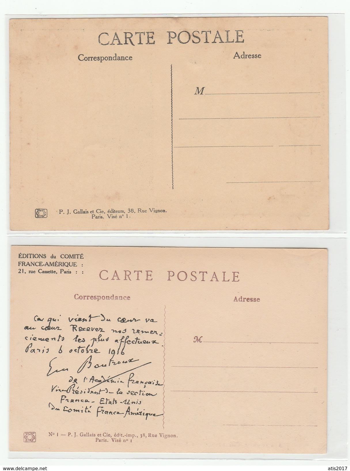2 Cpa De HANSI écrites ( Dont Une Par Mr Boutroux De L'académie Française ) - État Parfait - Hansi
