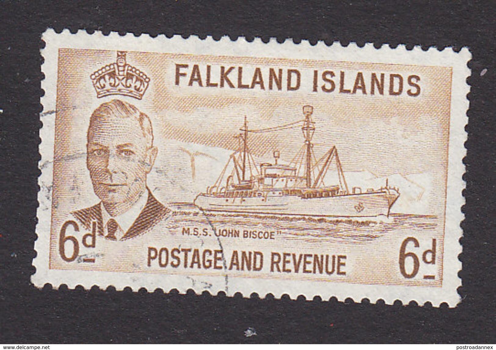 Falkland Islands, Scott #113, Used, George V And Industry Of Falkland Islands, Issued 1952 - Falkland Islands