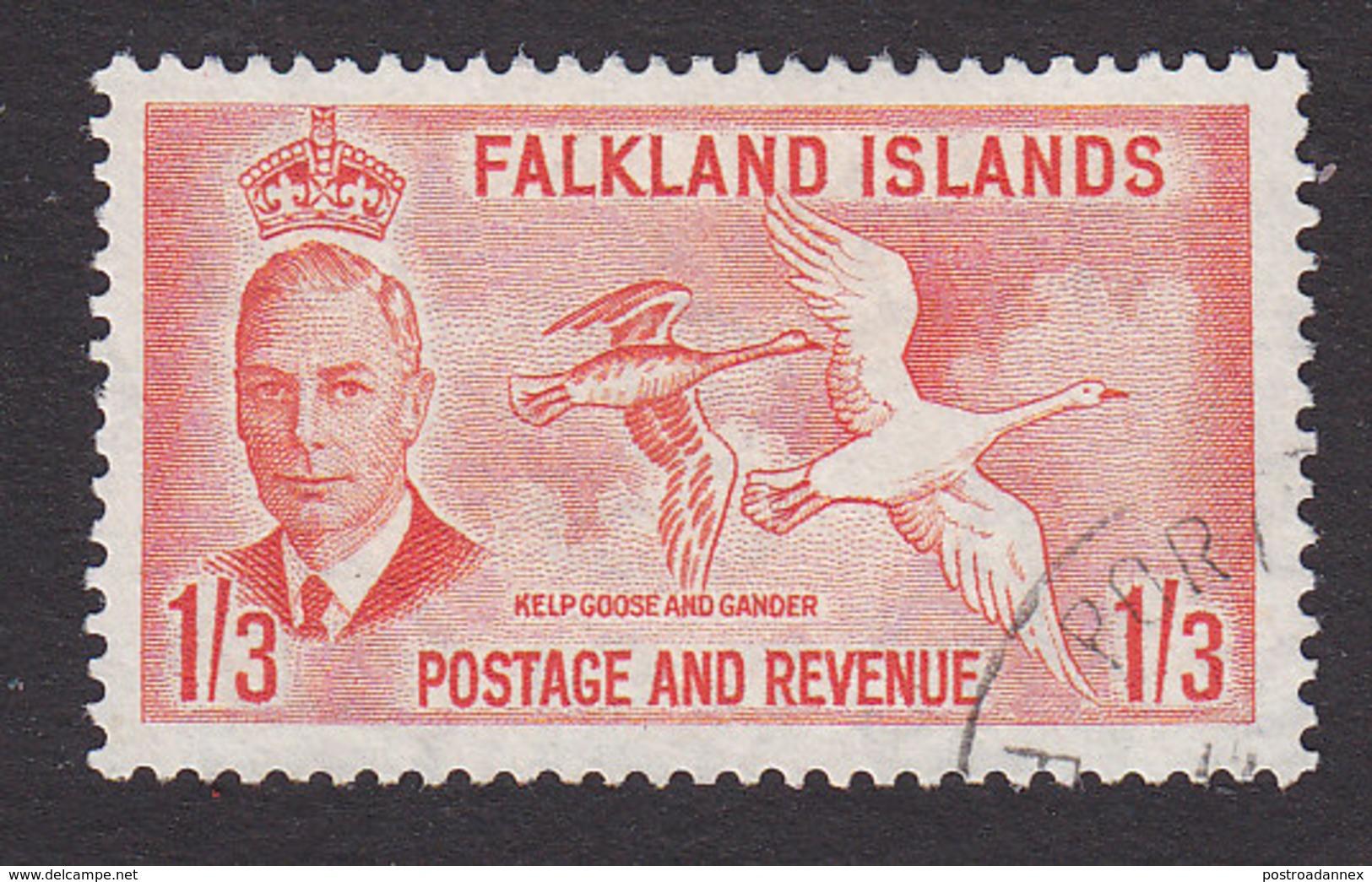 Falkland Islands, Scott #116, Used, George V And Scenes And Industry Of Falkland Islands, Issued 1952 - Falkland Islands