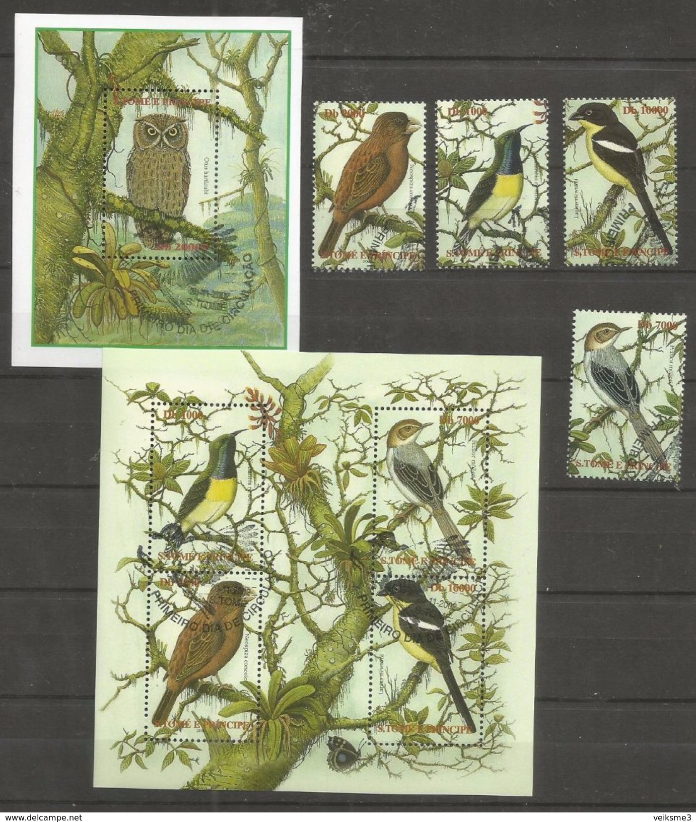 S.TOME E PRINCIPE - MNH - Animals - Birds - Owls - Oiseaux