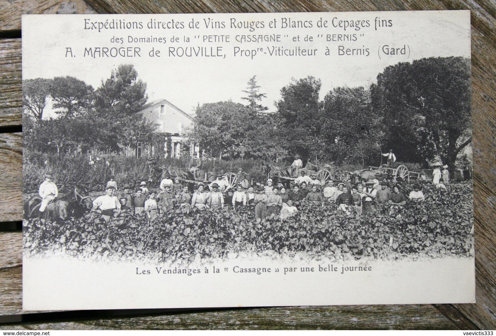 1749 CPA 30 BERNIS DOMAINES PETITE CASSAGNE ET BERNIS LES VENDANGES  1910 M63 - France