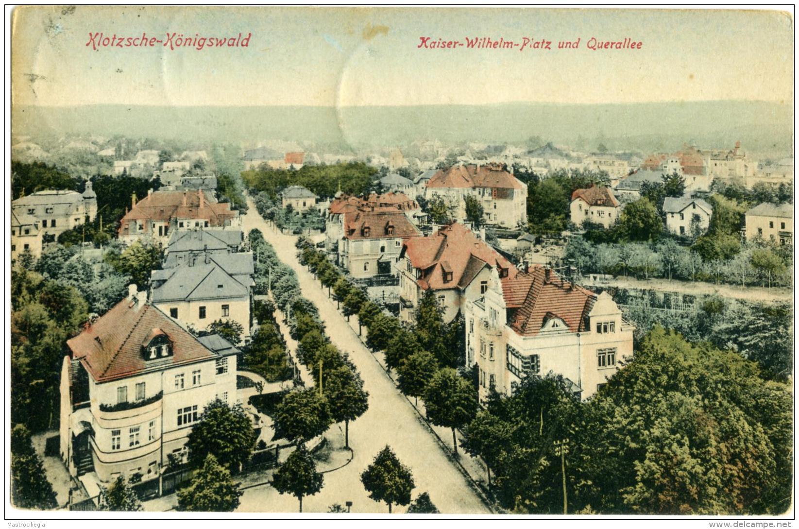 GERMANIA  SACHSEN  DRESDEN  KLOTZSCHE-KONIGSWALD Kaiser Wilhelm Platz Und Querallee - Dresden