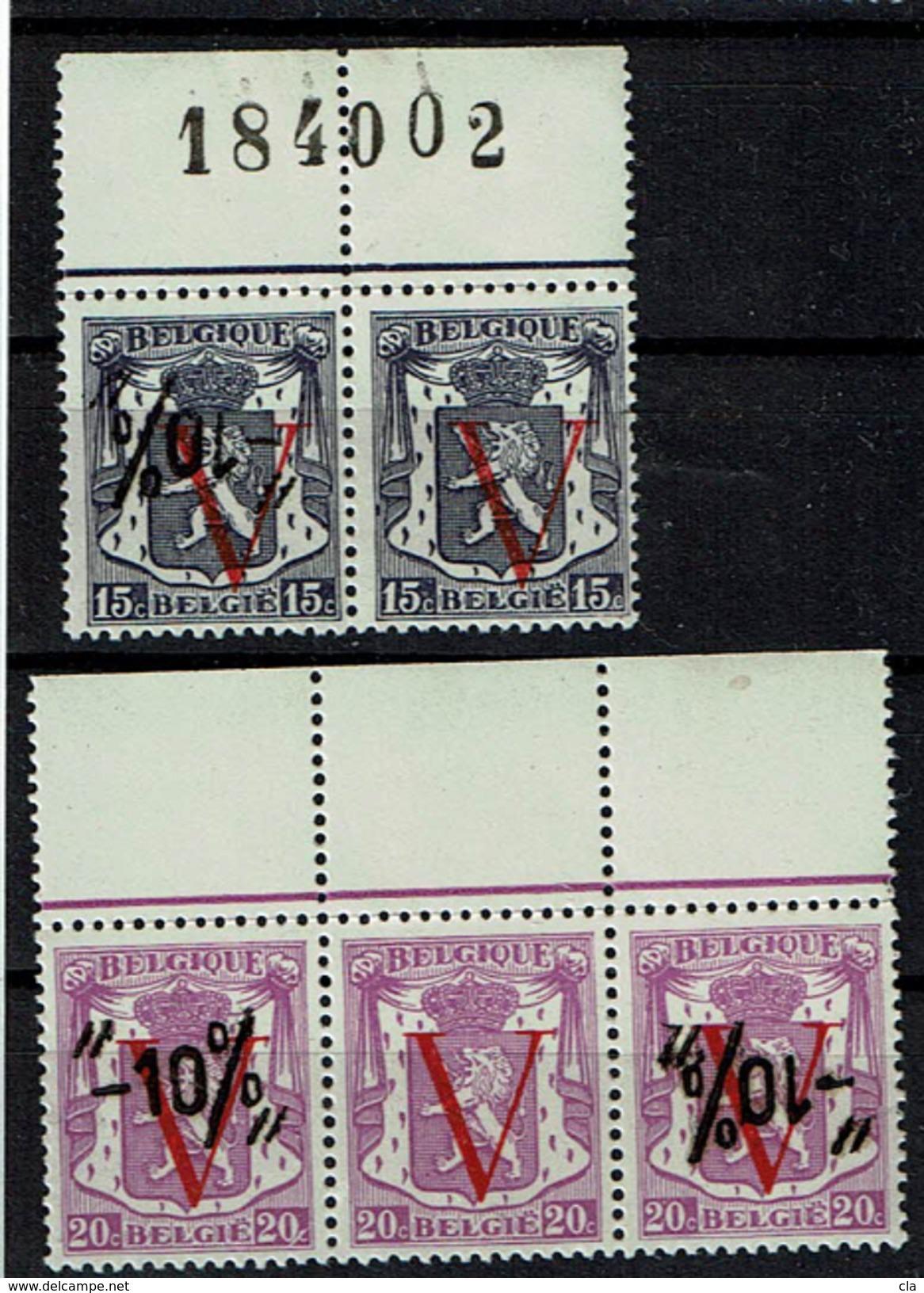 671 Paire Et 672 Bande 3  **  - 10 %  Curieux - 1946 -10%