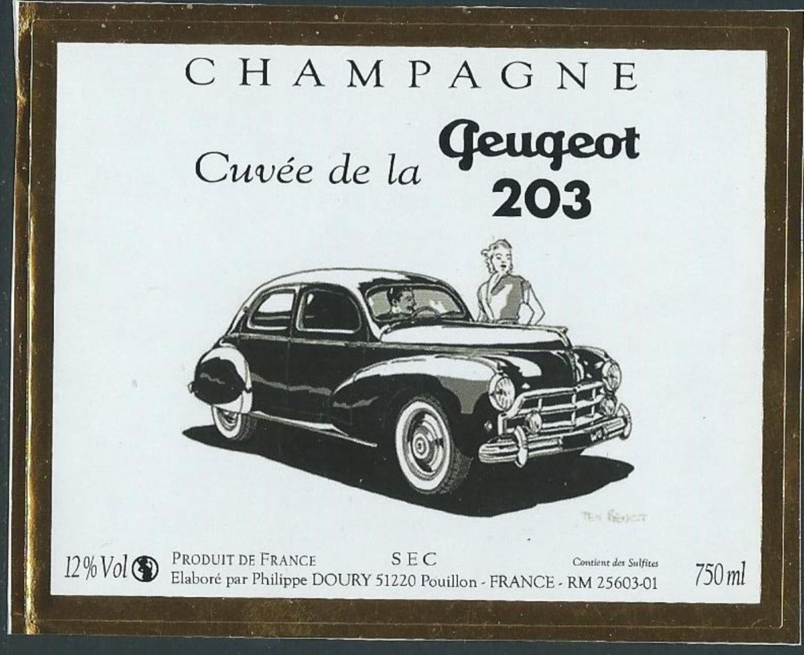 Etiquette CHAMPAGNE Thème Automobile - Champagne