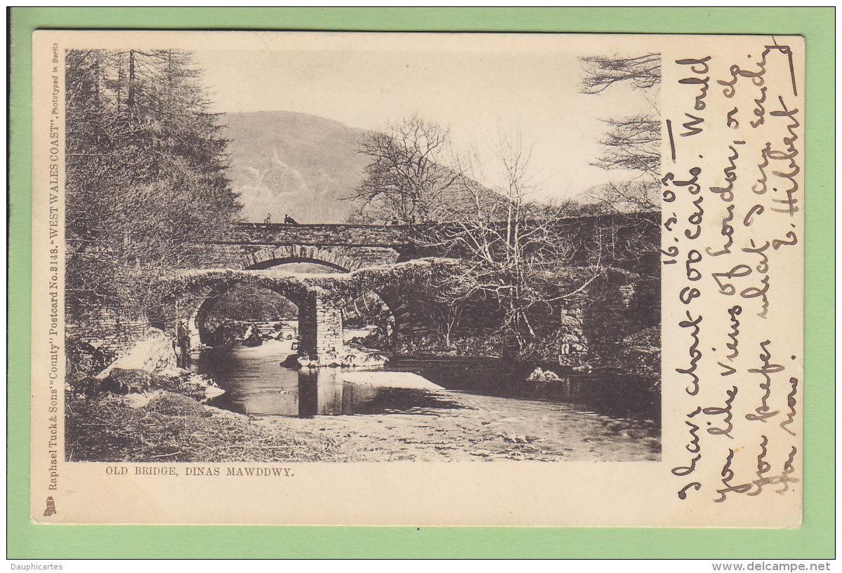 DINAS MAWDDWY, Old Bridge.  Dos Simple. 2 Scans. Edition Raphaêl Tuck - Pays De Galles
